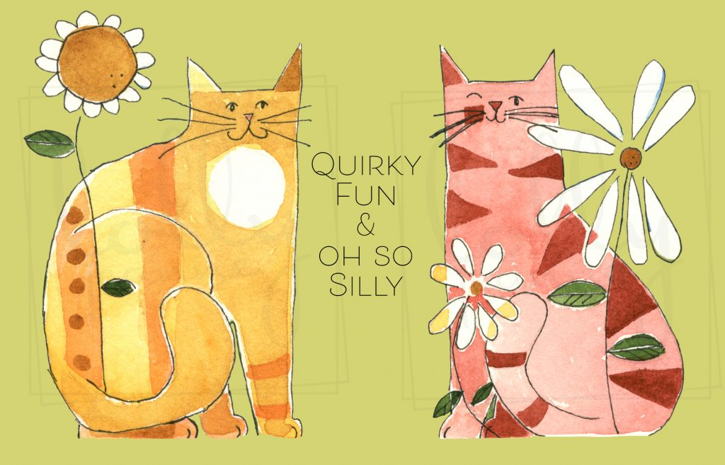 Silly Kitties: PNG Watercolor Clip Art Design Resources