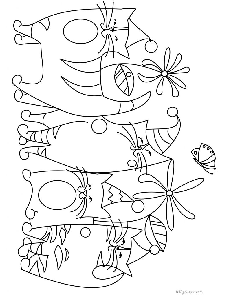 Garden Party Free Coloring Page