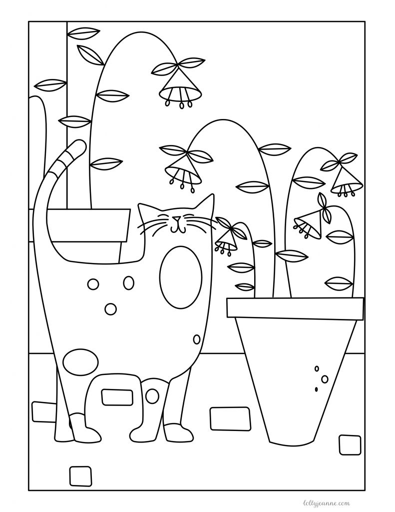 Smellicat Free Coloring Page