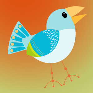 Mid Mod Finches freebie vector