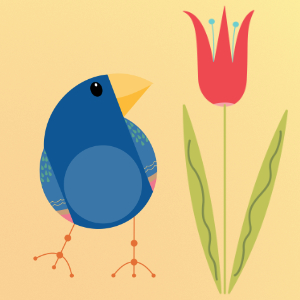 Resource Freebies: Mid Mod Finches PNG