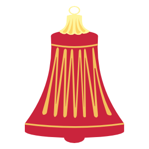 Free Red Bell from Atomic Christmas PNG