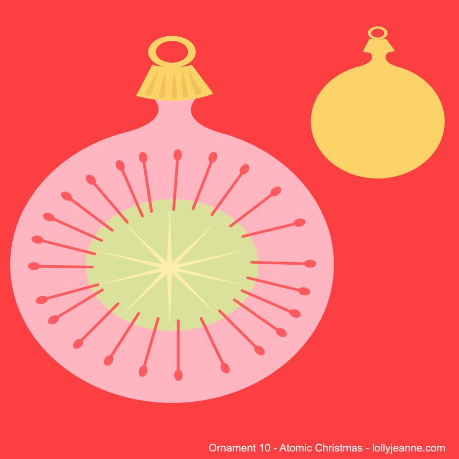 Vector Ornament Ten Atomic Christmas