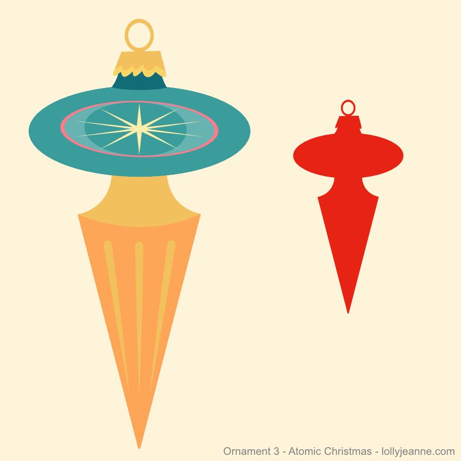 Vector Ornament Three Atomic Christmas