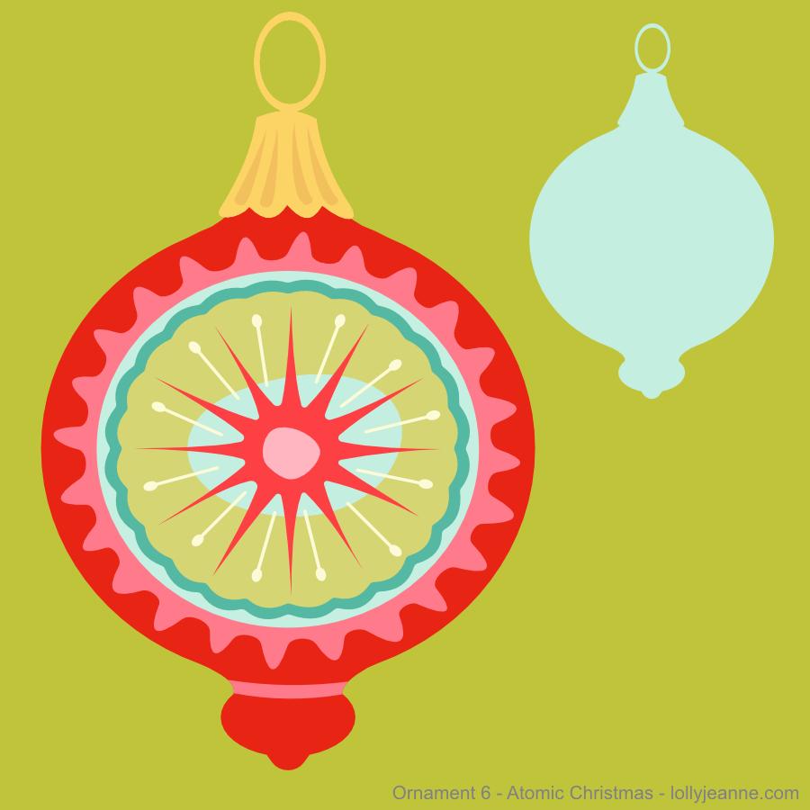 Vector Ornament Six Atomic Christmas