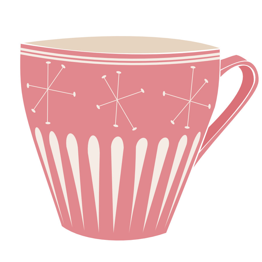 Affinity Designer Vector Assets: Mid Century Modern Coffee Time Cup 1
