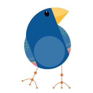 Mid-Mod Finches: PNG Illustration Clip Art Set