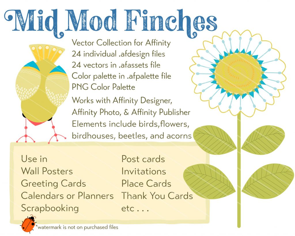 Affinity Vector Assets Mid Mod Finches